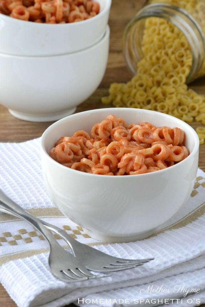 Homemade Spaghetti O's | www.motherthyme.com