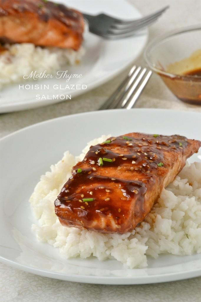 Hoisin Glazed Salmon | www.motherthyme.com