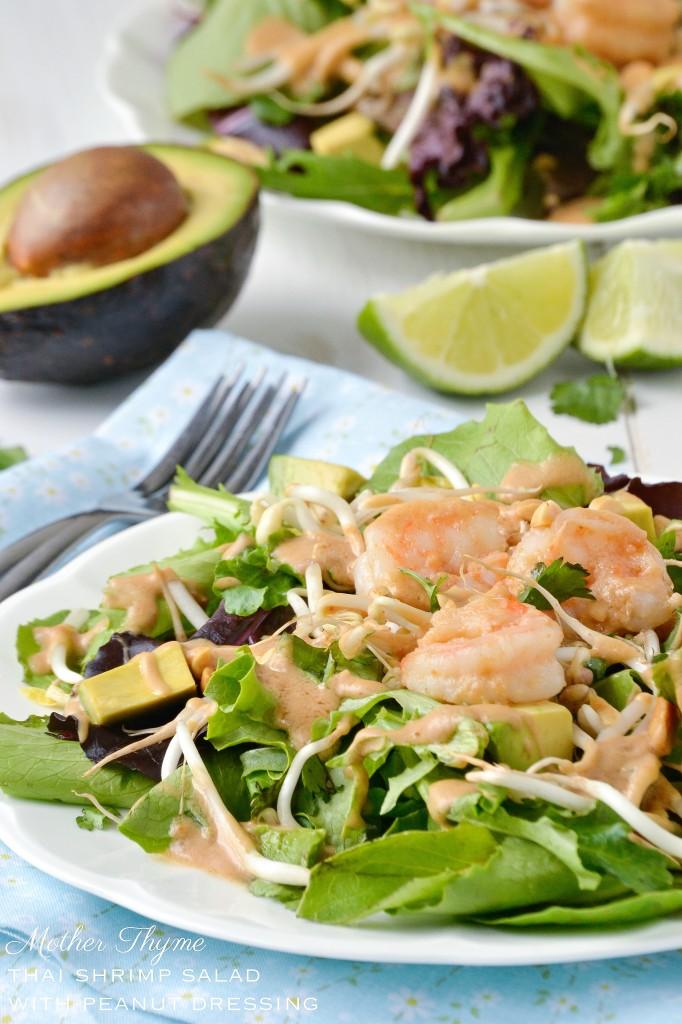 Thai Shrimp Salad with Peanut Dressing
