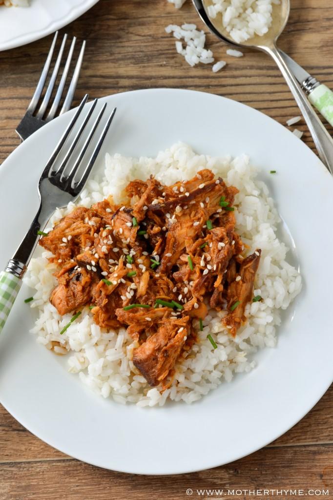 Crock Pot Honey Sesame Chicken   www.motherthyme.com