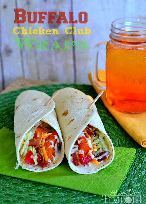 Buffalo Chicken Club Wraps