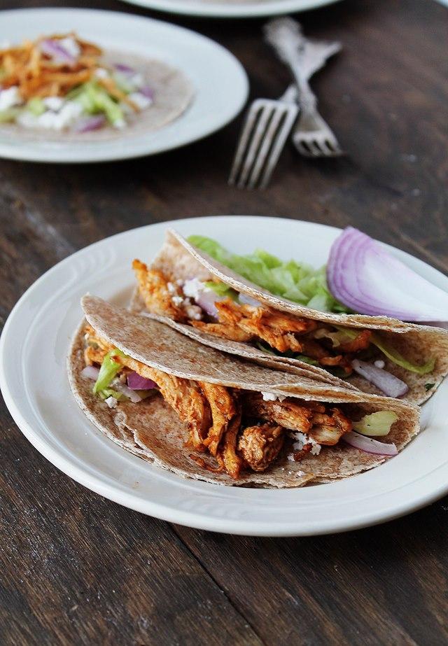 Shredded Buffalo Chicken Tacos