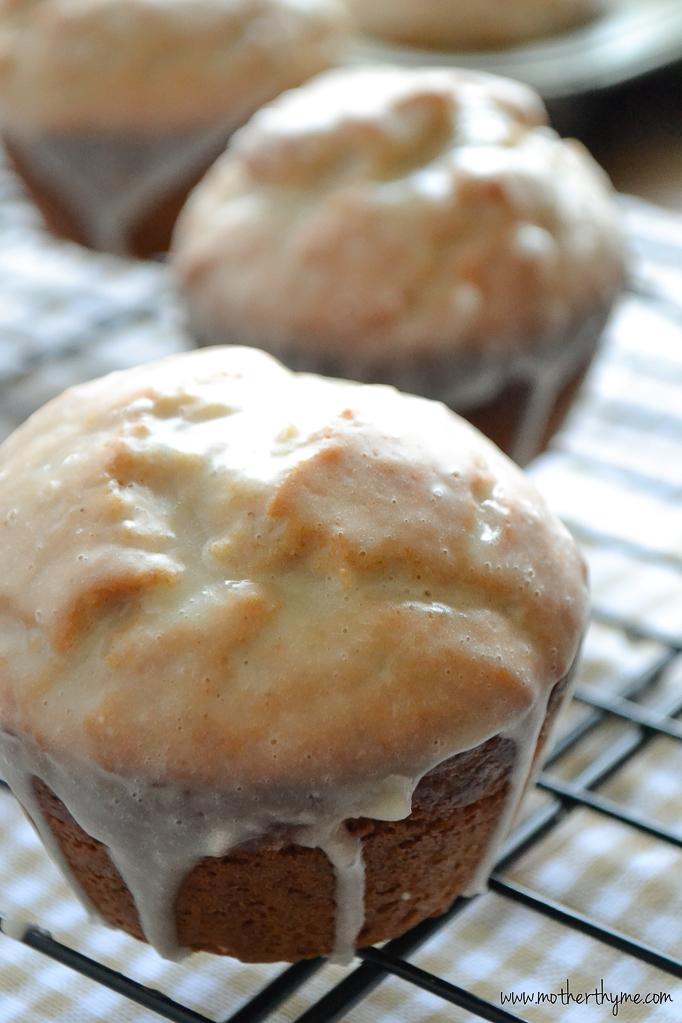 Eggnog Muffins | www.motherthyme.com