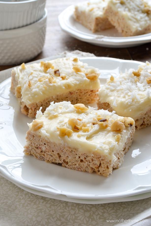 Carrot Cake Rice Krispie Treats