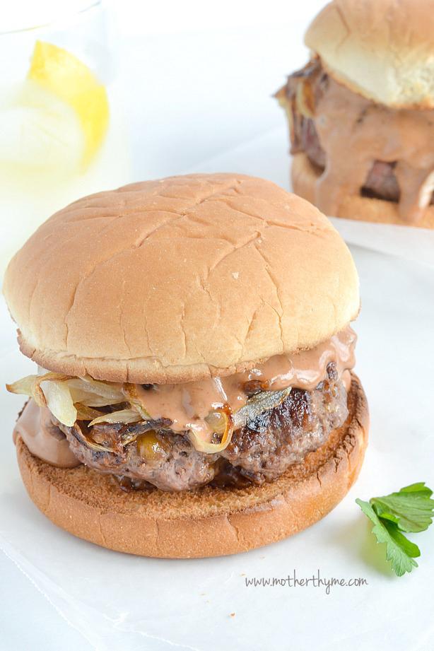 Campfire Burgers | www.motherthyme.com #burgers