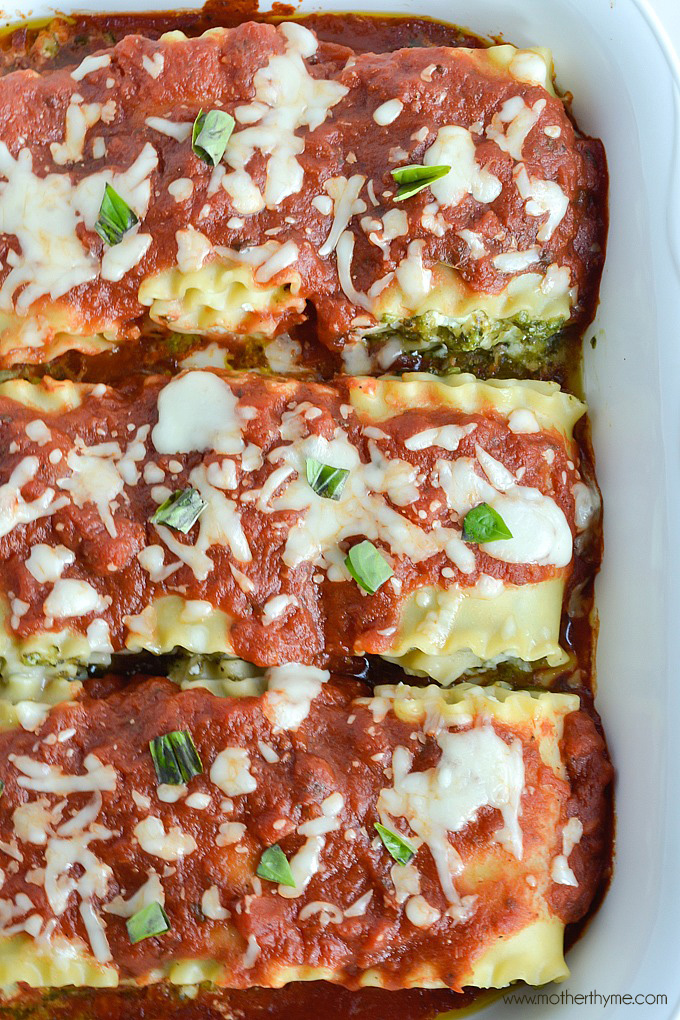 Pesto Lasagna Rolls | Mother Thyme