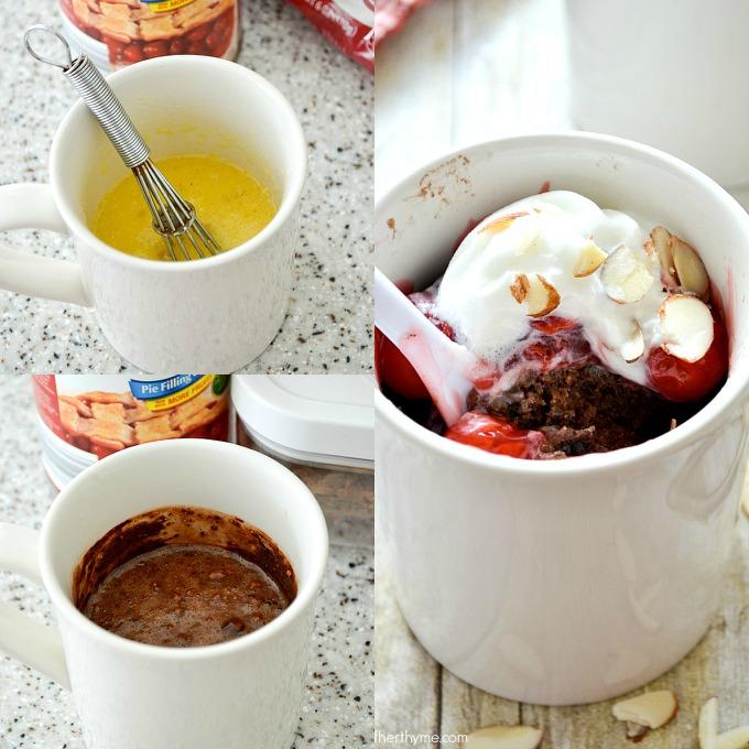 Black Forest Chocolate Mug Cake