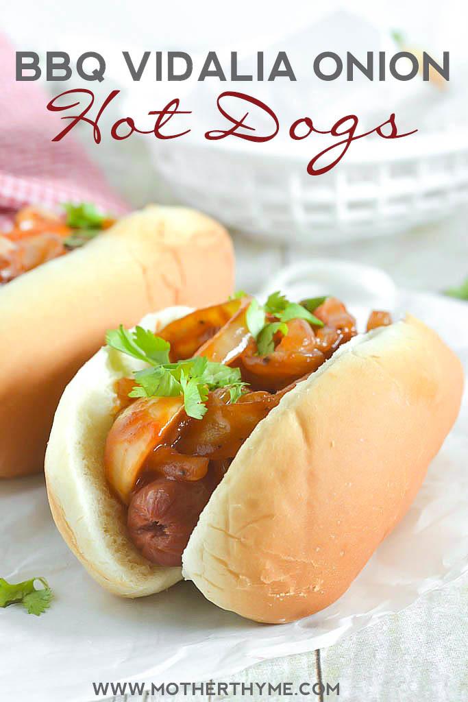BBQ Vidalia Onion Hot Dogs