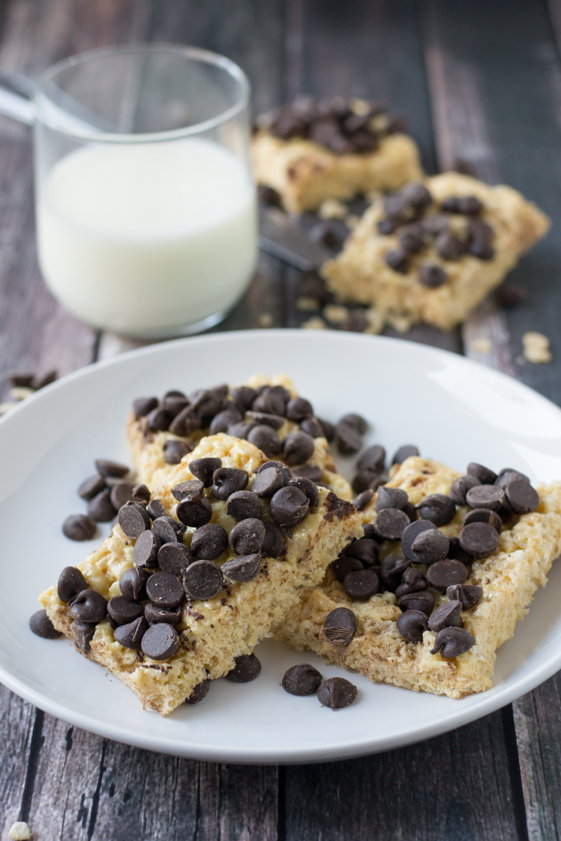 Chocolate Chip Cookie Rice Krispie Treats