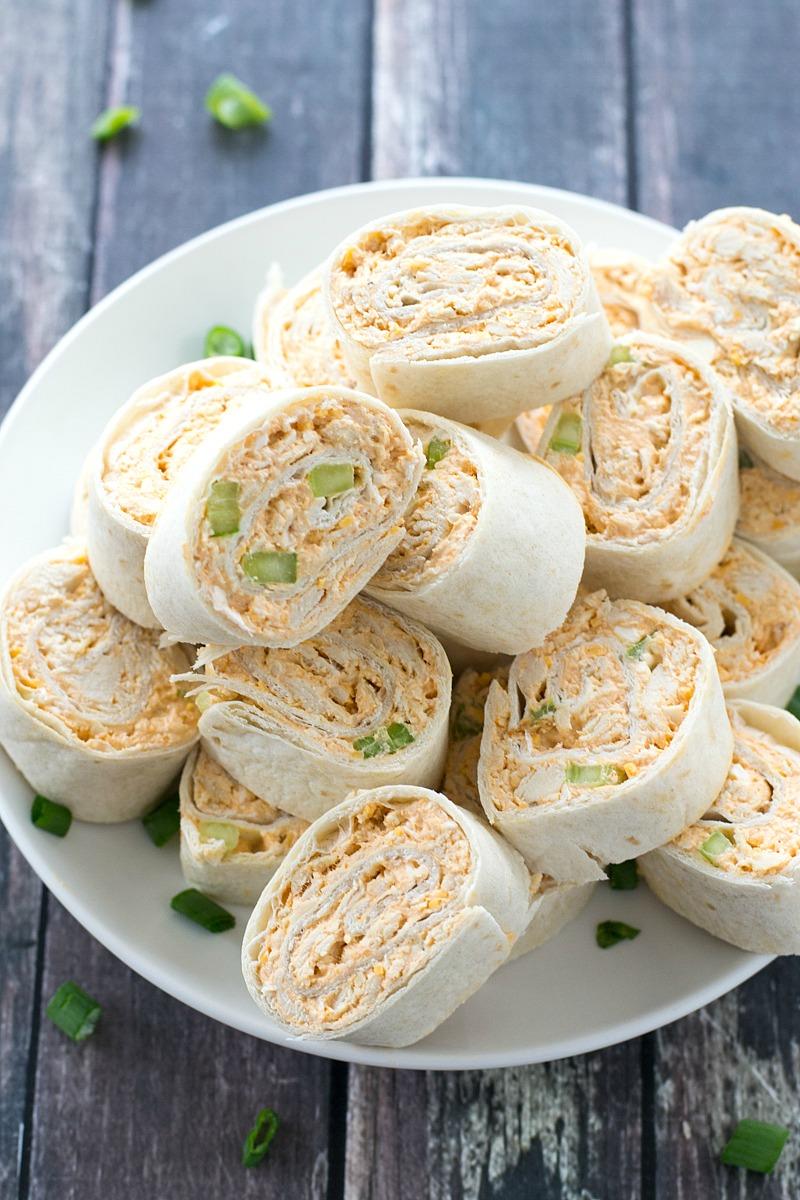 Buffalo Chicken Pinwheels | www.motherthyme.com