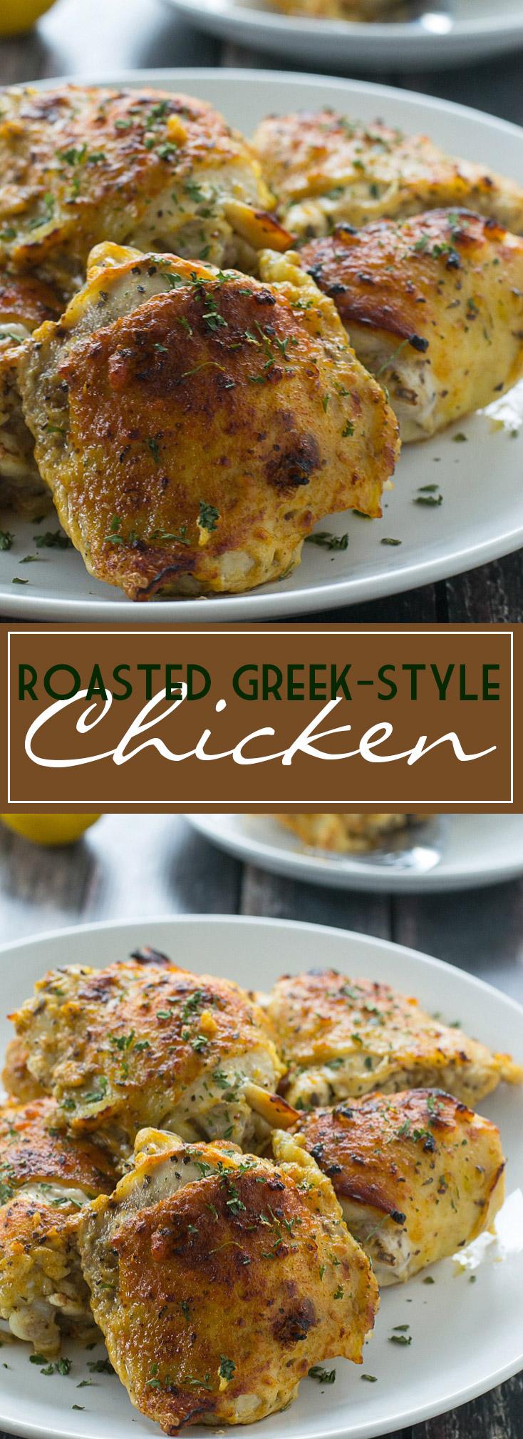 Roasted Greek-Style Chicken | www.motherthyme.com