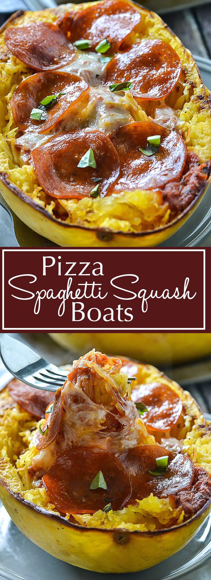 Pizza Spaghetti Squash Boats | www.motherthyme.com