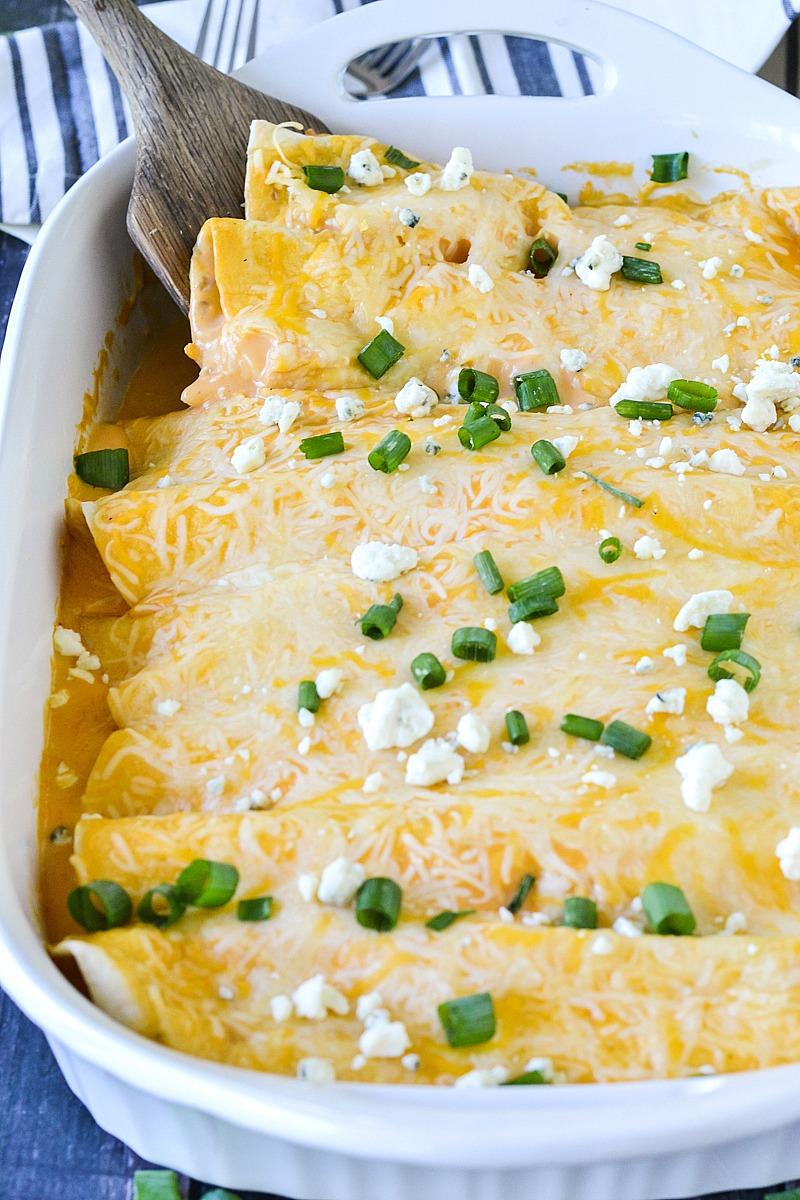 Creamy Buffalo Chicken Enchiladas | www.motherthyme.com