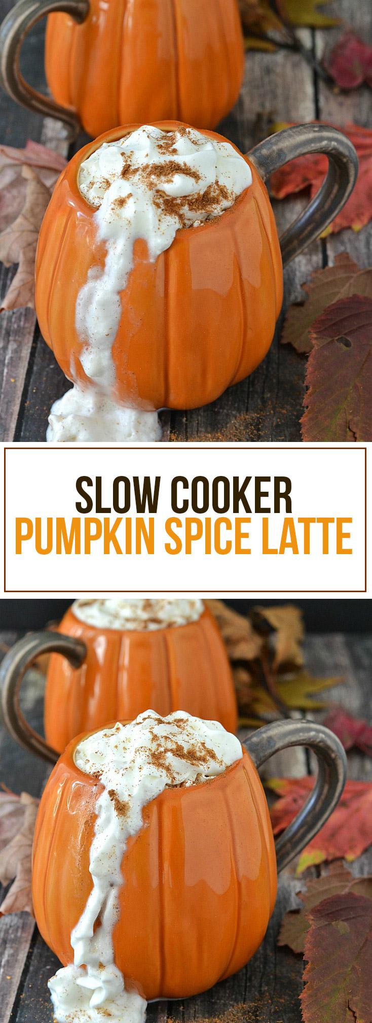 Slow Cooker Pumpkin Spice Latte - www.motherthyme.com