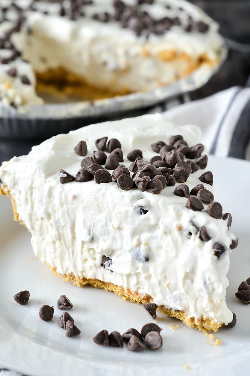 No Bake Chocolate Ricotta Pie