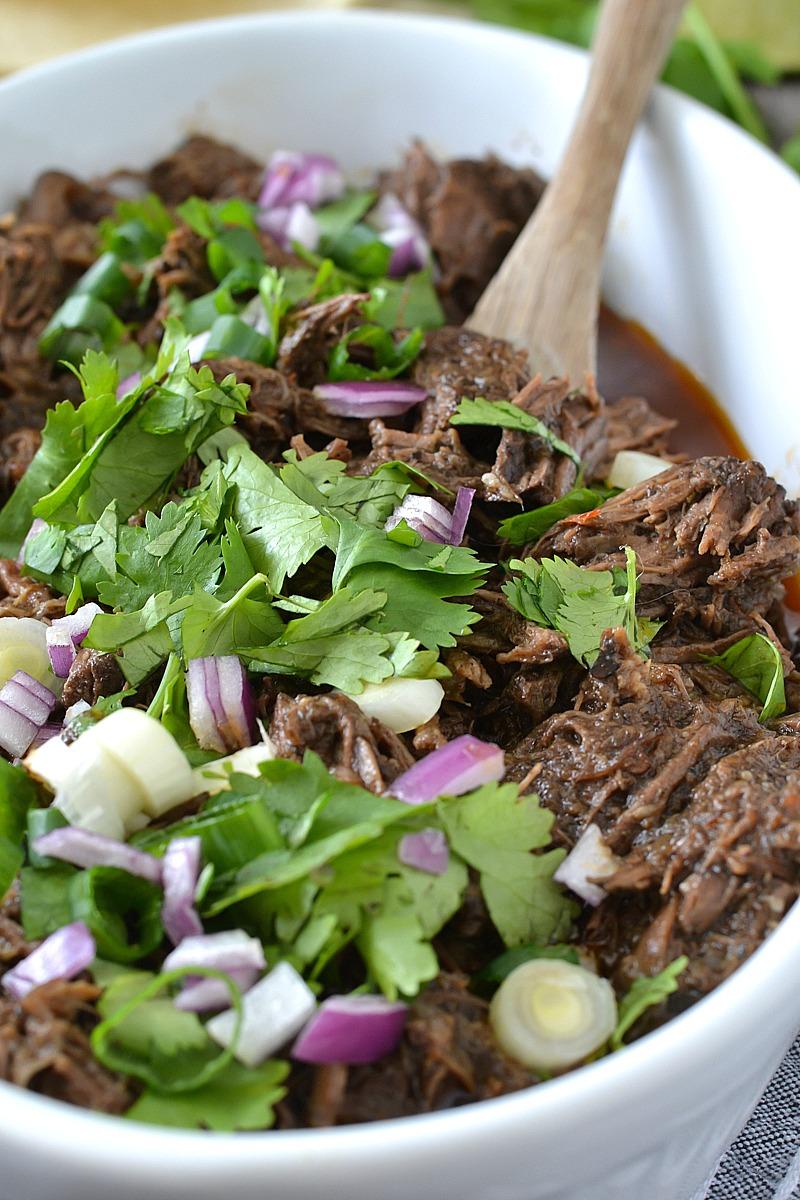 Slow Cooker Barbacoa Beef - Mother Thyme