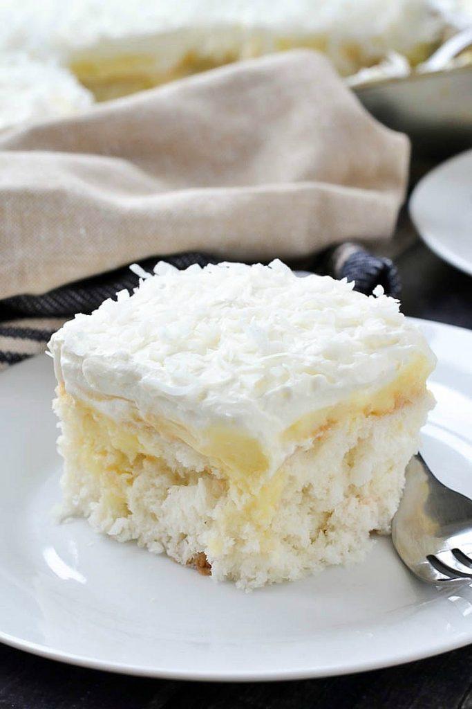 Coconut Cream Poke Cake Mother Thyme