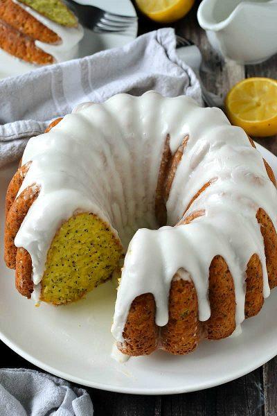 Glazed Lemon Poppy Seed Bundt Cake