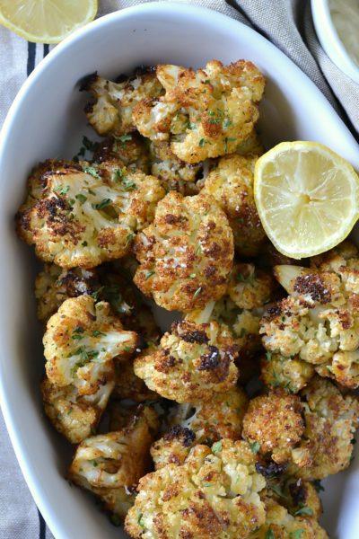 Crispy Baked Cauliflower Poppers