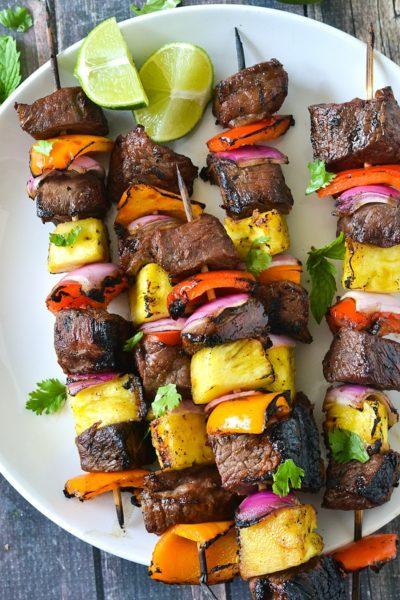 Grilled Teriyaki Steak Kabobs (Paleo)