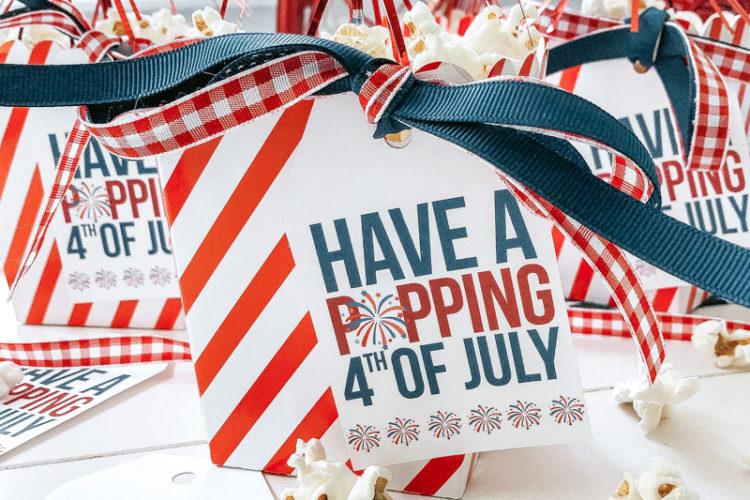4th of July Popcorn Tag (free printable)