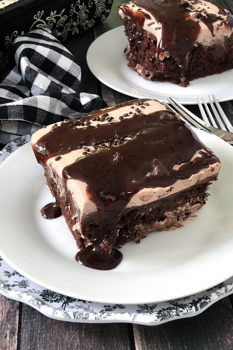 CHOCOLATE LOVER'S POKE CAKE