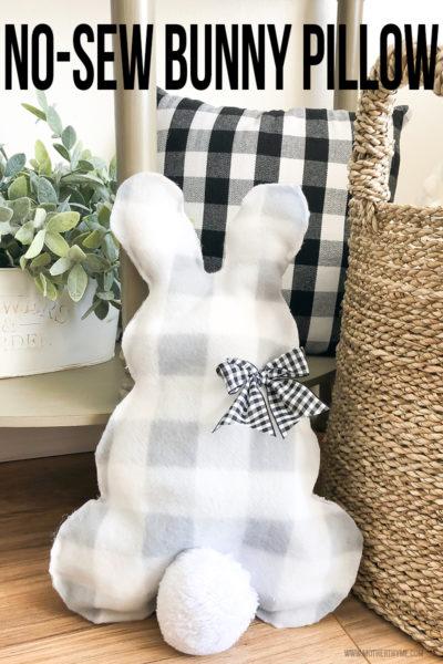 No-Sew Bunny Pillow